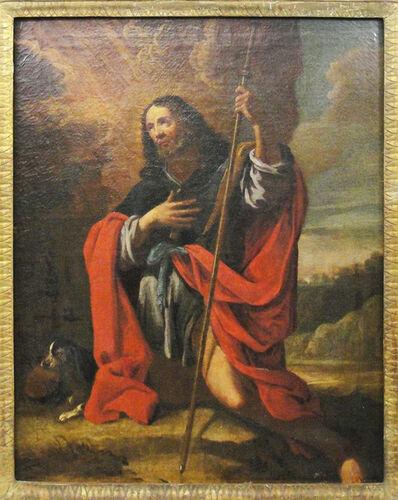 Italian School, 'Saint Rocco and the dog', 17th century