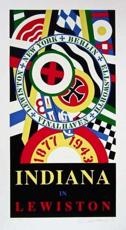Robert Indiana, 'Indiana in Lewiston', 1991