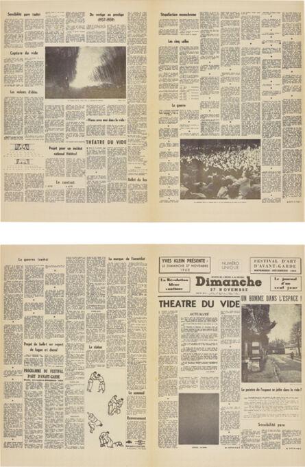 Yves Klein, 'Le Dimanche 27 Novembre 1960: Le journal d'un seul jour (Sunday 27th November: The Journal of a Single Day)', 1960