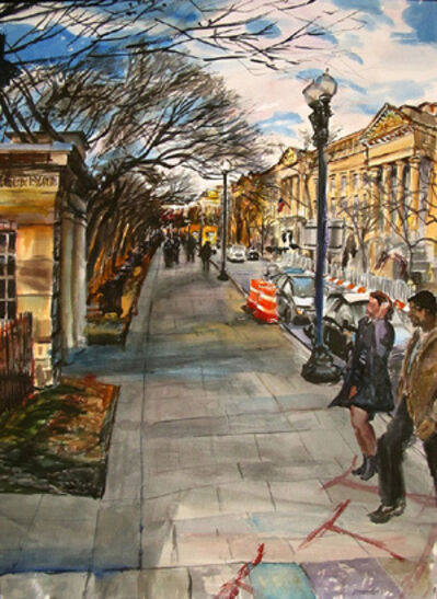 Richard Fitzhugh, '15th Street & Constitution Avenue, NW'