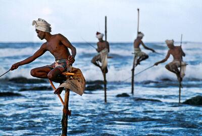 Steve McCurry, 'Stilt Fishermen', 2001