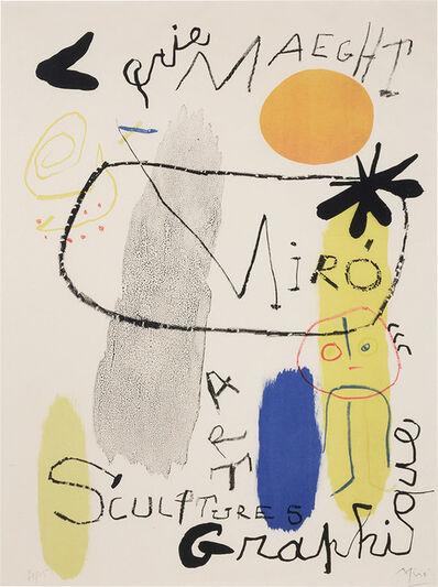 Joan Miró, 'Poster For Exhibition 1950 (Mourlot 92)', 1950