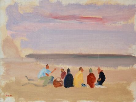 Paul Resika, 'Beach Picnic with Matthiew', 1995