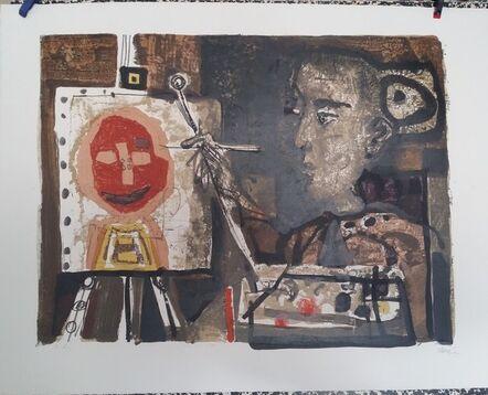 Antoni Clavé, 'Woman painter, 1953, lithograph', 1953