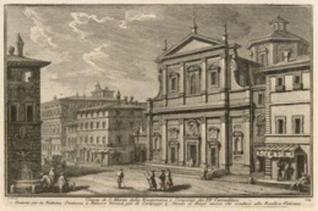 Giuseppe Vasi, 'Chiesa di S. Maria della Traspontina, e Convento dei PP, Carmelitani', 1747-1801