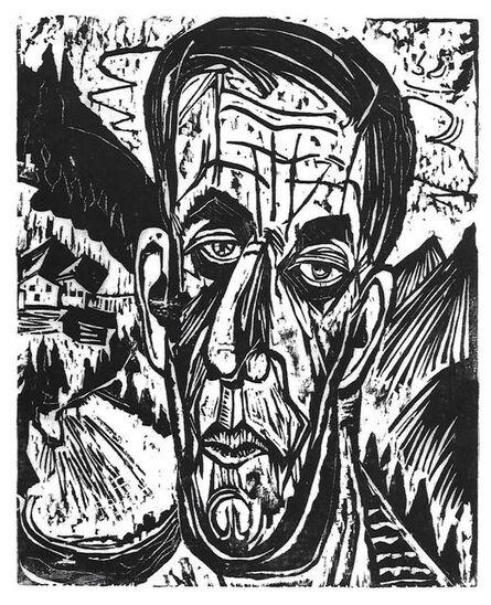 "Ernst Ludwig Kirchner, '""Portrait of Henry Van de Velde between Mountains""', 1917"