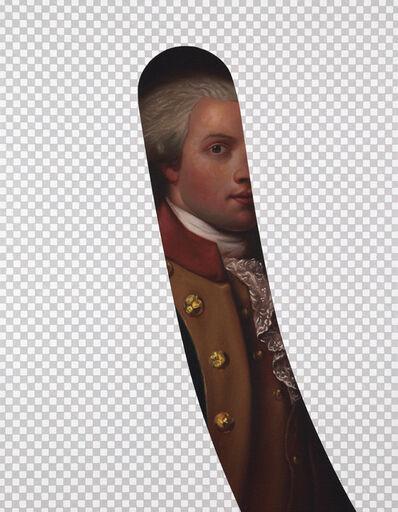 Shawn Huckins, 'My Button is Bigger Than Your Button (Marquis De Lafayette, Erasure No. 7)', 2018