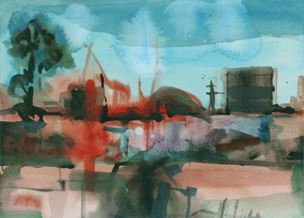 Simon Andrew, 'Landscape with Industrial Buildings', 2020