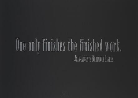 Joseph Kosuth, 'Titled Quotation (for L.C.) from Leo Castelli 90th Birthday Portfolio', 1997