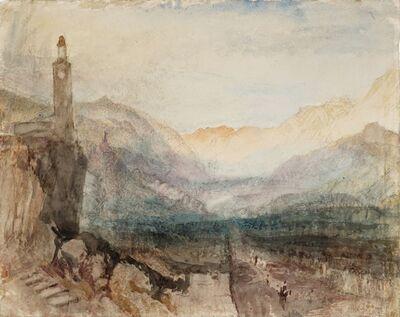 J. M. W. Turner, 'The Pass of the Splügen: Sample Study', 1841-1842