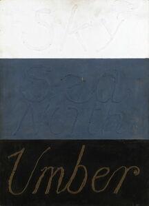 Kenneth Rowntree, 'Sky, Sea, North Umber', 1981