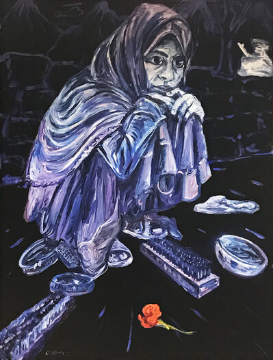 George Gittoes, 'Shazia - Shoe Shine Girl', 2017