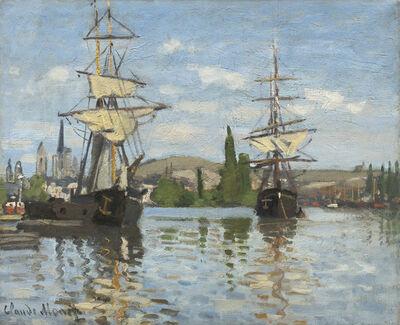 Claude Monet, 'Ships Riding on the Seine at Rouen', 1872/1873