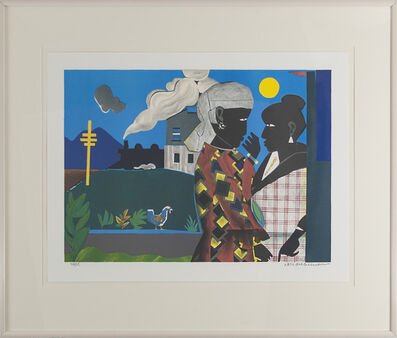 """Romare Bearden, '""""Conversation""""', 1979"""