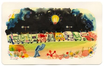 Souther Salazar, 'Five Dollar Fire Balloons at the Truck Stop', 2013