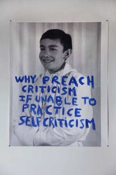 Thierry Geoffroy /COLONEL, 'WHY PREACH CRITICISM IF UNABLE TO PRACTICE SELF CRITICISM', 2017