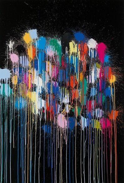 Ian Davenport, 'Colour Splat Cloud (Black)', 2017