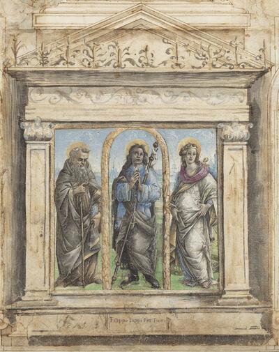 Raffaellino del Garbo, 'Saint Roch between Saints Anthony Abbot and Catherine of Alexandria', ca. 1485/1495