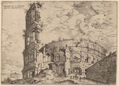Hieronymus Cock, 'View of the Colosseum', probably 1550