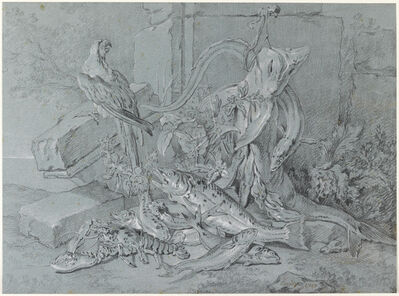 Jean-Baptiste Oudry, 'Still-life with Fish and Parrot', 1740