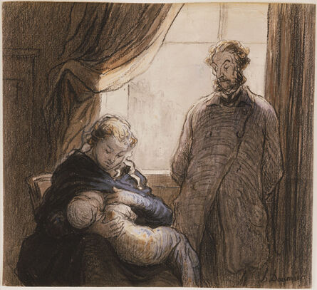 Honoré Daumier, 'The Family', 1860s