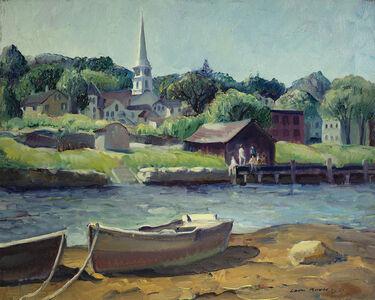 Leon Kroll, 'Along the River (Mystic River)', 1921