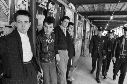 Allan Tannenbaum, 'The Cure gets caught on Columbus Ave., New York City', 1980
