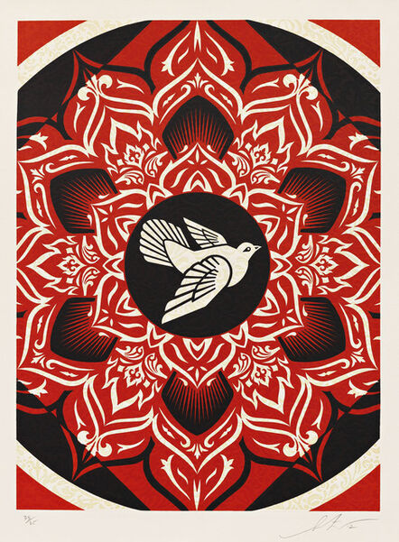 Shepard Fairey, 'Lotus Target Black', 2012