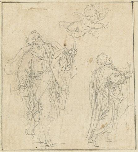Agostino Masucci, 'Two Biblical Figures Guided by a Cherub'