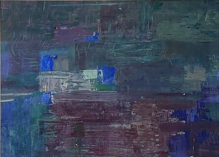 Morris Shulman, 'Abstraction in Purple and Blue', ca. 1955