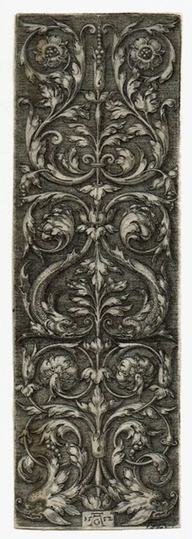 Heinrich Aldegrever, 'Ornament with Dolphin's Heads', 1552