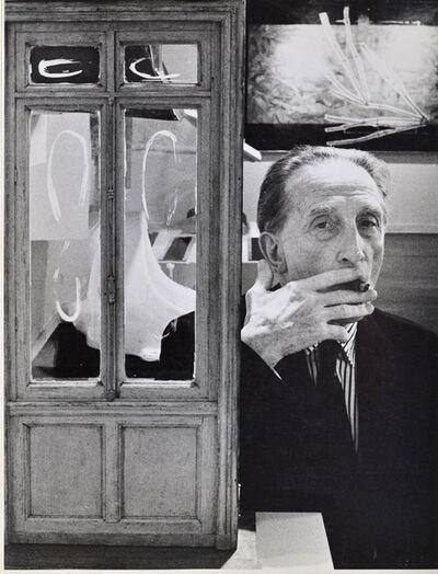 Julian Wasser, 'Duchamp smoking Cigar beside Little Door, Duchamp Retrospective, Pasadena Art Museum', 1963