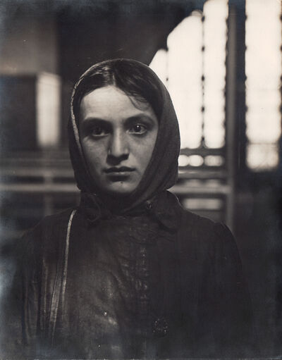 Lewis Wickes Hine, 'Young Russian Jewess Arriving at Ellis Island', Neg. date: 1905 / Print date: Exact date unknown