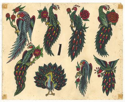 Rosie Camanga, 'Untitled (Peacocks)', ca. 1950