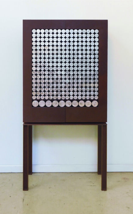 Pilar Climent, 'Silver Circles Cabinet'