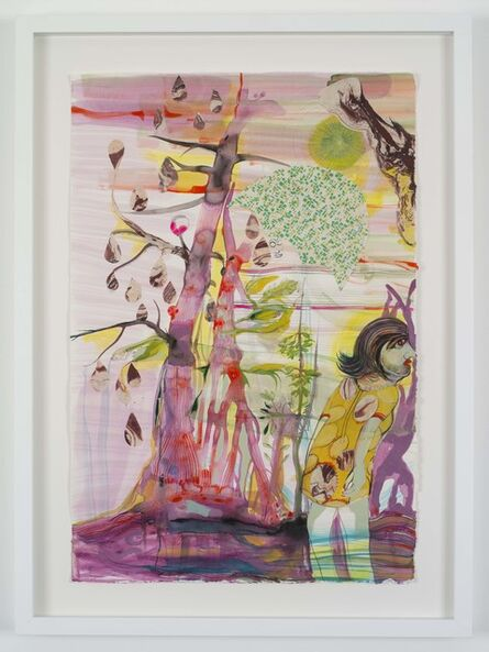 Rina Banerjee, 'Widow marriages and interracial catches at the edge of paradise's forest must stare into a state appointed registrar with no objections and ample warnings as crowning.', 2018