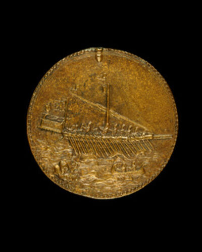 Leone Leoni, 'Galley and Small Boat [reverse]', 1541