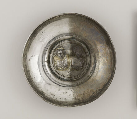 Unknown Artist, 'Offering Bowl with a Medallion of Mercury and Maia or Rosmerta', 150-225