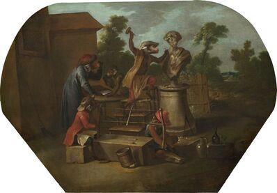 Christophe Huet, 'Singerie: The Sculptor', ca. 1739