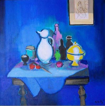 Marcel Mouly, 'La Desserte, Fond Bleu', 2004