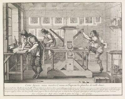 Abraham Bosse, 'Cette figure vous montre comme on imprime les planches de taille douce', 1642