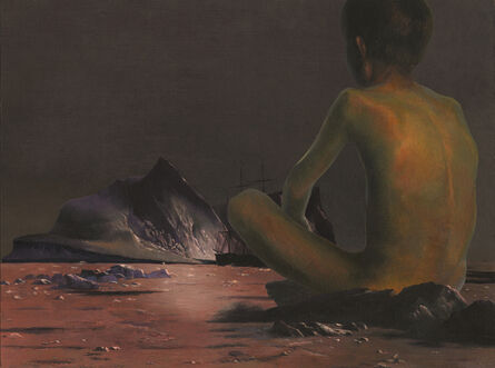 """Adam Mysock, 'Waiting for the Pool to Open (after: William Bradford's """"Scene in the Arctic"""" (c. 1880) and Peder Severin Kroyer """"Boys Bathing in Skagen, Summer Evening"""", 1899)', 2014"""