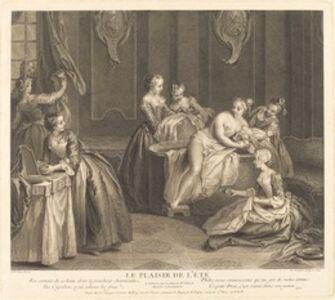 Louis de Surugue de Surgis after Jean-Baptiste Joseph Pater, 'Les plaisir de l'ete', 1744