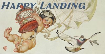 Joseph Christian Leyendecker, 'Happy Landing, Amoco Advertisement', 1945