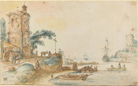 Hendrick Avercamp, 'Scene with a Tower to the Left', ca. 1620