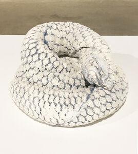 Oren Pinhassi, 'Towel Snake (white and blue), 2016,', 2016