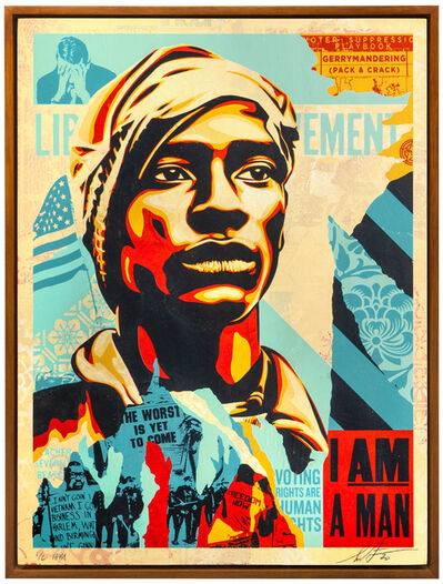 Shepard Fairey, 'Voting Rights are Human Rights', 2020