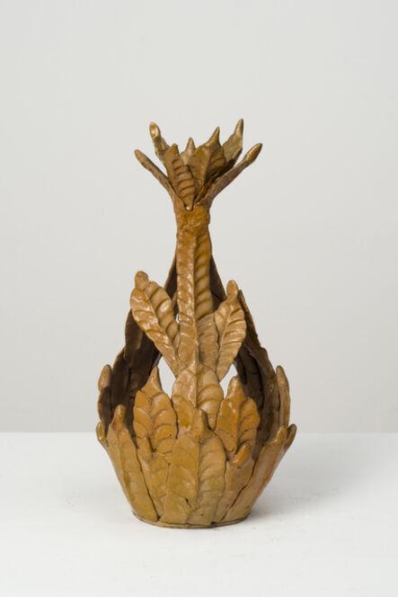 Eugene Von Bruenchenhein, 'Untitled (brown flower top vessel)', n.d.