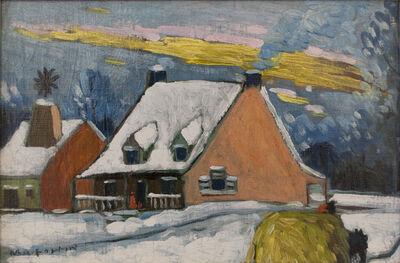 Marc-Aurèle Fortin, 'Maisons en Hiver', ca. 1920's