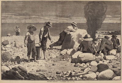 William H. Redding after Winslow Homer, 'Sea-Side Sketches - A Clam-Bake', published 1873